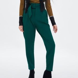 Zara high-waisted black trousers